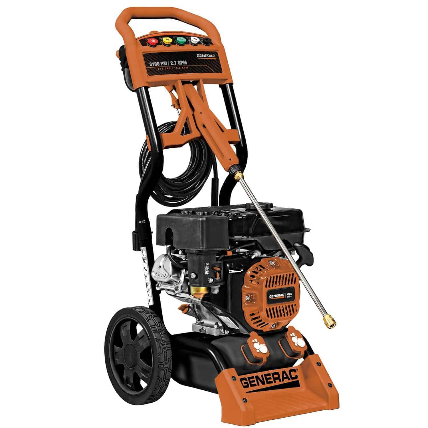 Generac 6598 3,100 PSI 2.7 GPM 212cc OHV Gas Powered Residential Pressure Washer review