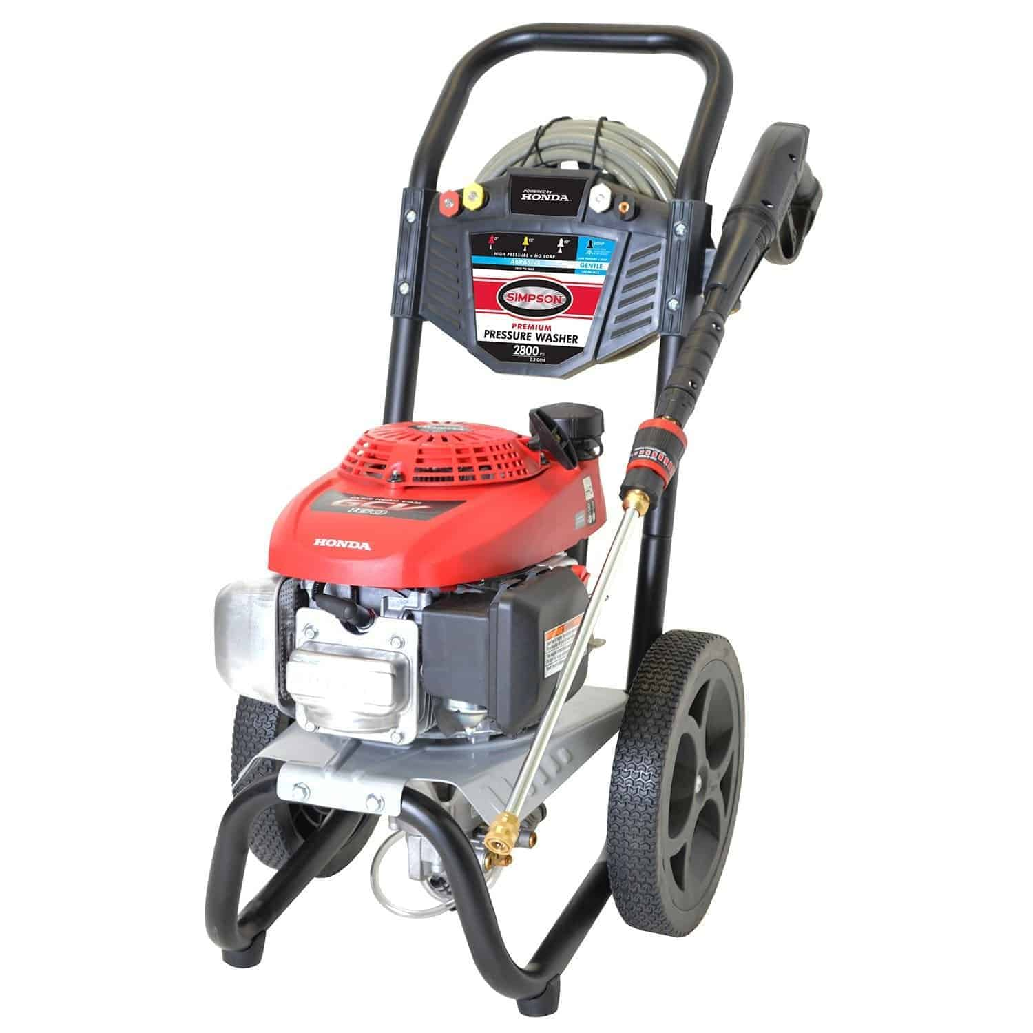 Simpson megashot 2800 gas pressure washer review for Power washer with honda motor
