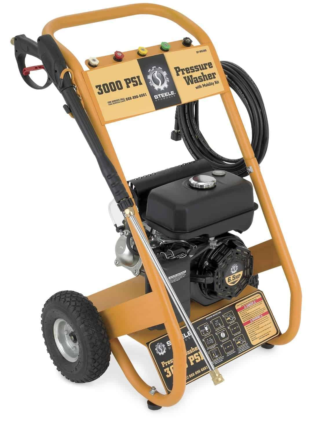 Steele Products SP-WG300 3,000 PSI 2.7 GPM Gas Powered Pressure Washer With 30-Foot Hose review