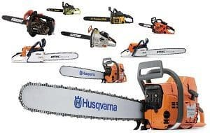 Types of chainsaws