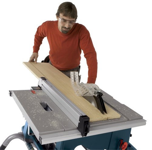 Cutting a board on a table saw