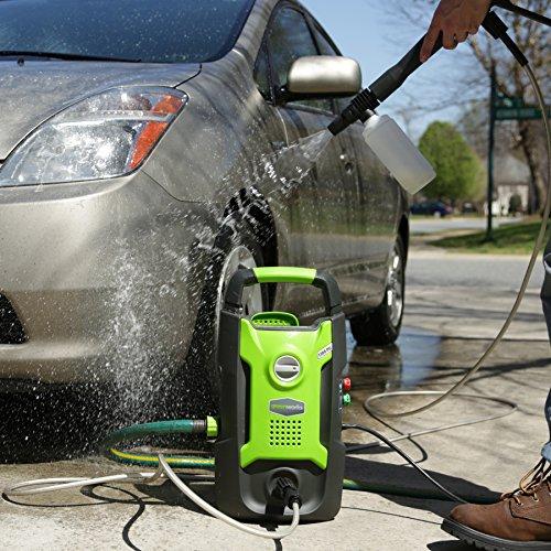 Pressure washing a car