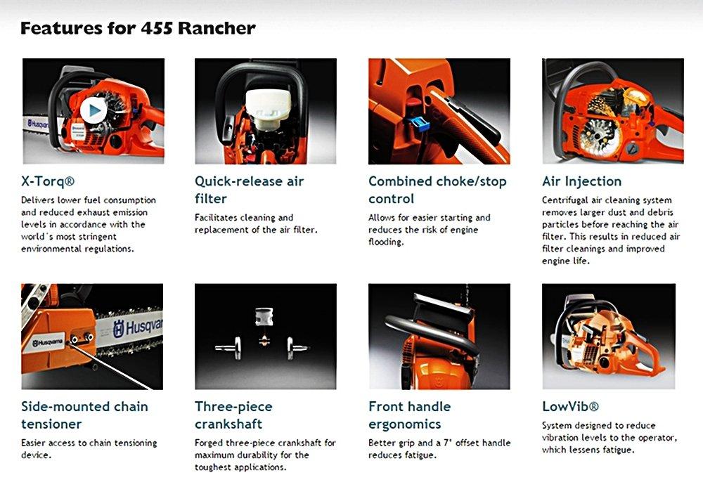 Husqvarna 455 rancher features