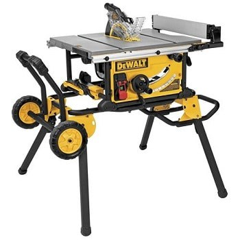 DeWALT DWF7491RS 10 inch jobsite mobile portable rolling stand table saw review