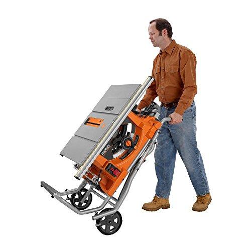 Ridgid R4510 jobsite saw with stand
