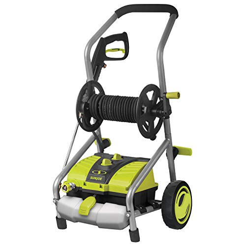 SPX4001 SunJoe pressure washer with hose reel medium power electric portable washer