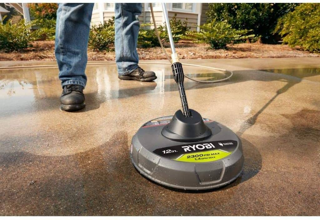 Why use a surface cleaner attachment benefits pros cons Ryobi
