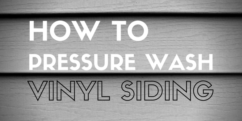 How to Pressure Wash Vinyl Siding