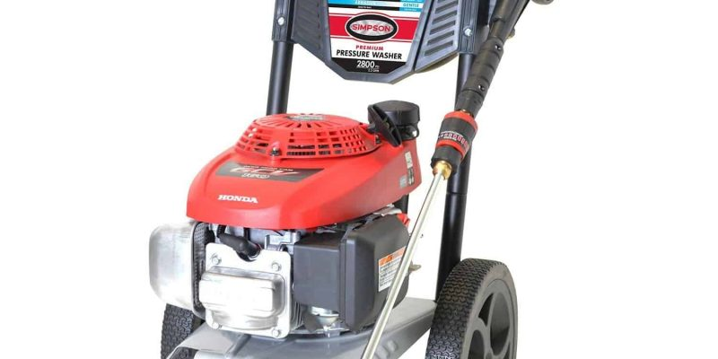Simpson MegaShot 2800 PSI 2.3 GPM Gas Pressure Washer with HONDA GCV160 Engine Review